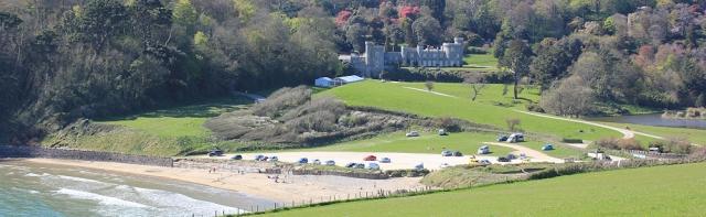 Caerhays Castle, Ruth's coastal walk, Cornwall