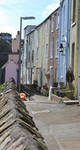 Mevagissey streets, Ruth's coastal walk.