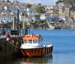 Polruan Ferry, Ruth's coastal walk around the UK