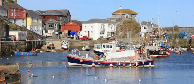Mevagissey Harbour, Ruth's coastal walk