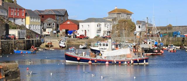 Mevagissey Harbour, Ruth's coastal walk