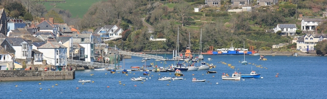 on the South West Coast Path, looking over to Fowey