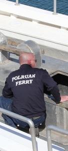 ferryman, Fowey Ferry, Ruth's coast walk