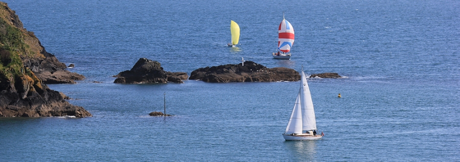 ships coming into Fowey, Ruth Livingstone on the South West Coast Path