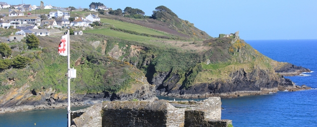 Castle, mouth of Fowey, Ruth's coastal walk