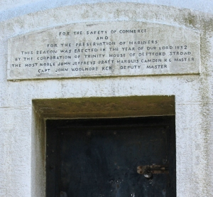 Gribbin Tower - inscription - Ruth's coastal walk around the UK