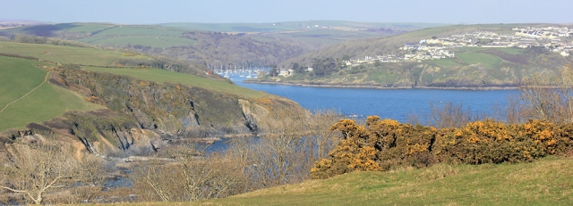 back to Fowey, Ruth walking the South West Coast Path