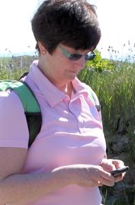 Ruth on her coastal walk