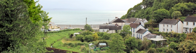 01 view from B&B window, Porthallow, Ruth's coastal walk