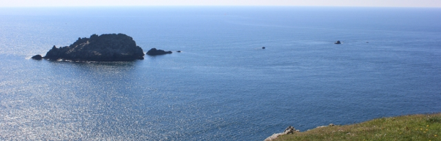 Gull Rock, off Nare Head, Cornwall, Ruth's coast walk