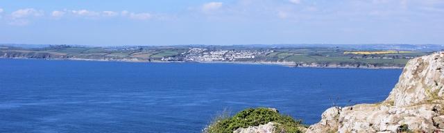 View from Nare Head, Ruth's coastal walk, Cornwall