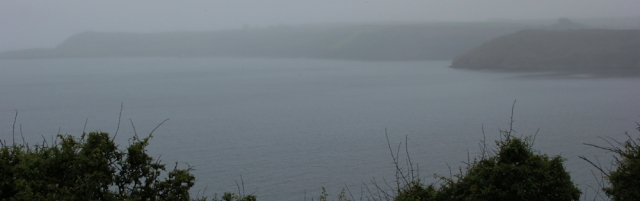 03 view in the rain, South West Coast Path, Ruth in Cornwall