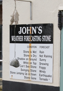 04 John's weather forecasting stone, Ruth in Porthallow