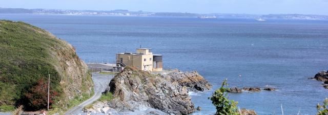 07 Porthkerris Point, looking to Falmouth, Ruth's coastal walk