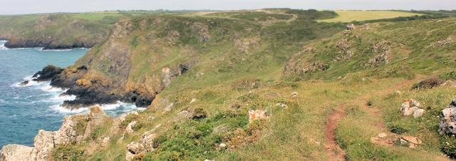 08 South West Coast Path, Pedn Boar, Ruth's coast walk, Cornwall