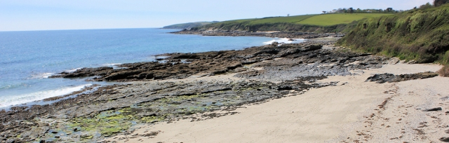 Porthbean Beach, Ruth on the SW Coast footpath