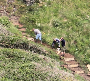 09 repairing the South West Coast Path, Downas Valley