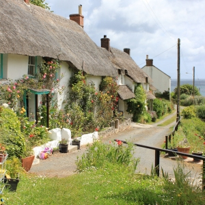 10 thatched cottages at Porthoustock, Ruth's coastal walk, Cornwall