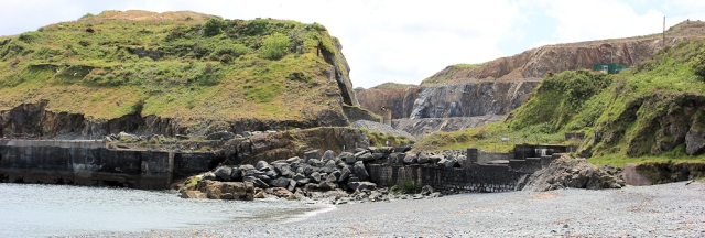 11 quarry works at Porthoustock, Ruth's coastal walk