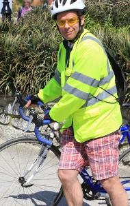 12 Hubby on bike, Ruth's coastal walk