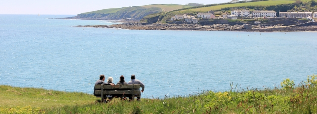 overlooking Portscatho, Ruth's coast walking