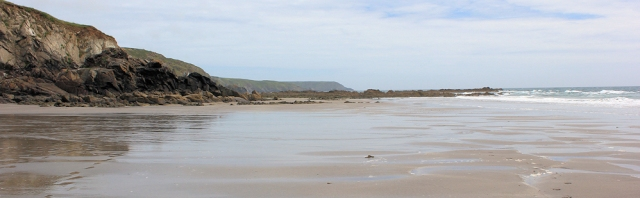 Kennack Sands, back to Black Head, Ruth walking the South West Coast Path