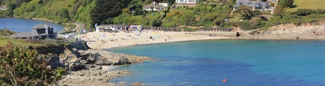 16 back to Swanpool Beach, Ruth on the SW Coast Path