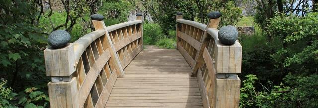 Bridge to serpentine works, South west coast path, Ruth Livingstone