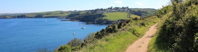 17 towards Maenporth along the South West Coast Path, Ruth's walk
