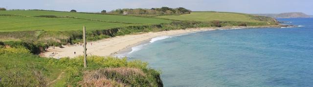 18 Towan Beach, Ruth walking the South West Coast Path