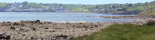 18 view forward to Coverack, Ruth's coastal walk, Cornwall