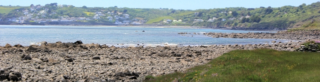 18 view forward to Coverack, Ruth's coastal walk, Cornwall