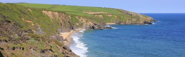 Porthmellin Head and Porthbeor Beach, Ruth on South West Coast Path, Cornwall
