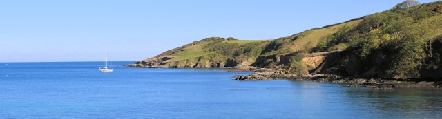 19 ship off Rosemullion Head - Ruth's coastal walk around Cornwall