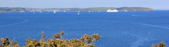 20 looking back to Falmouth and St Anthony Head, Ruth's coastal walk