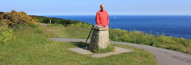 Zone Point and hubby, Ruth walking around Cornish Coast