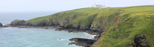 24 Lizard Lighthouse, Cornwall, Ruth on her coast walking