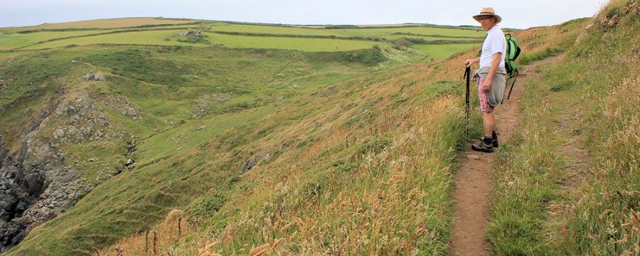 hubby on SWCP, Ruth's coastal walk through Cornwall