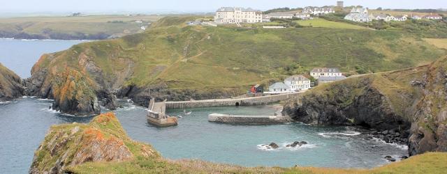 above Mullion Cove, Ruth's coastal walk along the SWCP