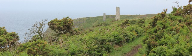 walking towards Tin mines, Ruth's coast walk