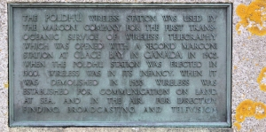 inscription on Marconi monument, Ruth on SWCP, Cornwall