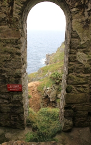 tin mine, interior, Ruth on SWCP, Cornwall