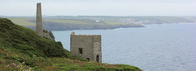 tin mine, Ruth walking the South West Coast Path