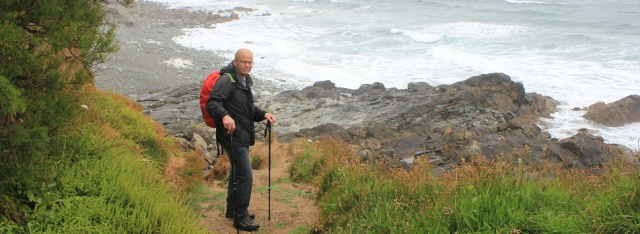 my husband's short cut, walking the SWCP, Cornwall