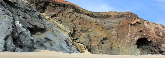 Porthleven Sands, rock formation on Ruth's coastal walk