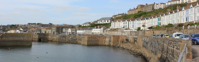 Porthleven, Ruth on her walk around the coastline