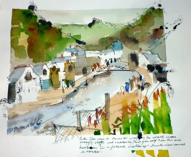 Boscastle (Tim Baynes painting for Ruth Livingstone)