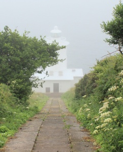Tater-du Lighthouse, in the mist. Ruth Livingstone