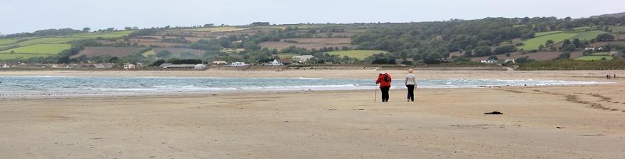long Beach to Penzance, Ruth walking the Coast