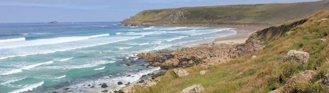 Gwynver Beach, Ruth walking the coast, Cornwall